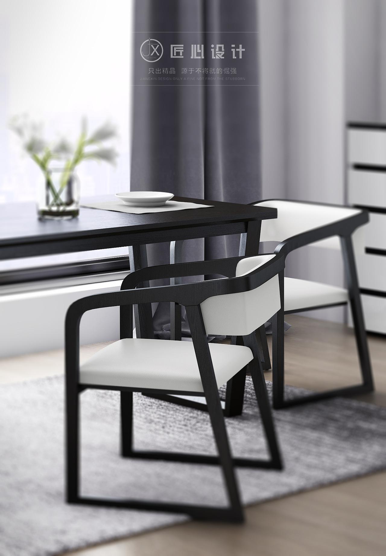 椅子设计手绘黑白