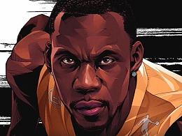 乔丹体育CBA篮球美漫插画写实风,斗者无畏