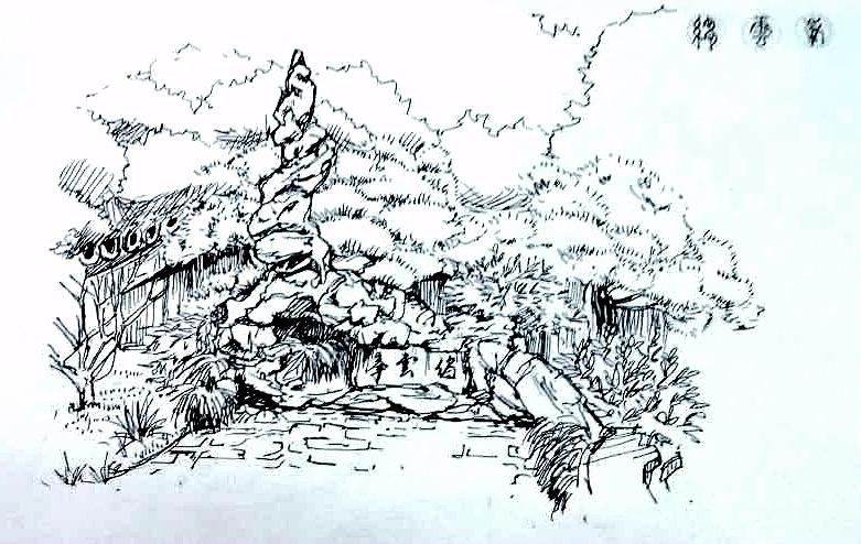 美丽佛山手绘画