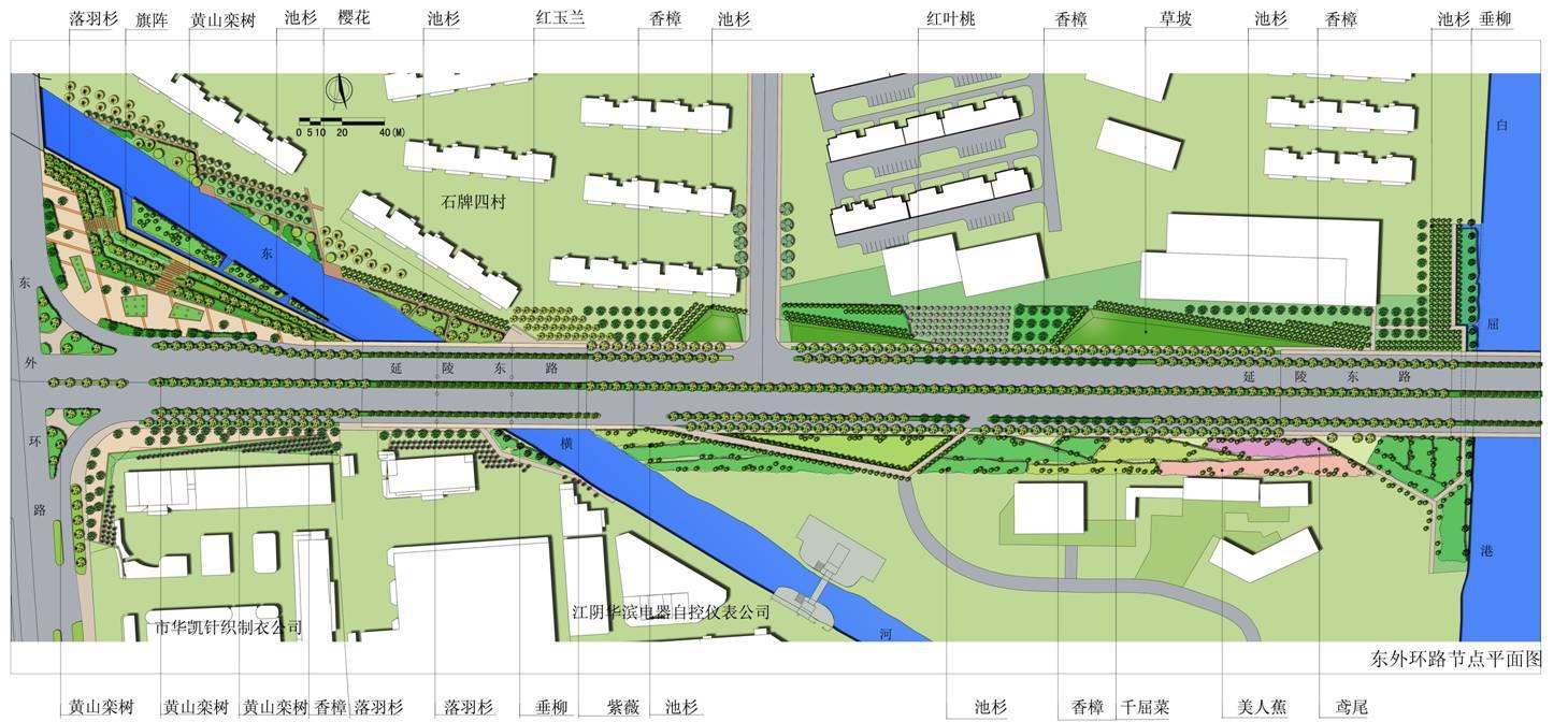 道路景观设计平面图