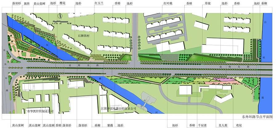 道路景观设计平面图图片