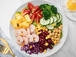 沙拉 水果 蔬菜 健康午餐 静物摄影  食品商业拍摄