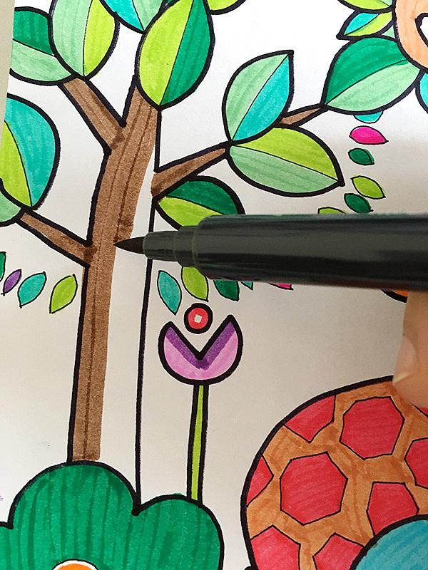 儿童画水彩笔-热闹的森林
