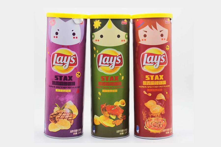 包装设计 乐事桶装薯片 瓶贴 自定义口味系列