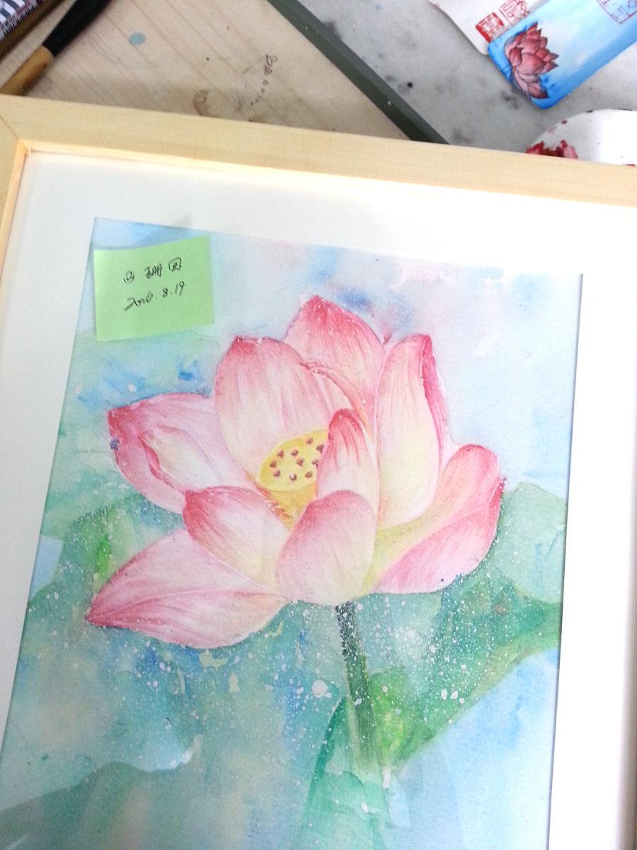 莲花——手绘|彩铅|纯艺术|珊回
