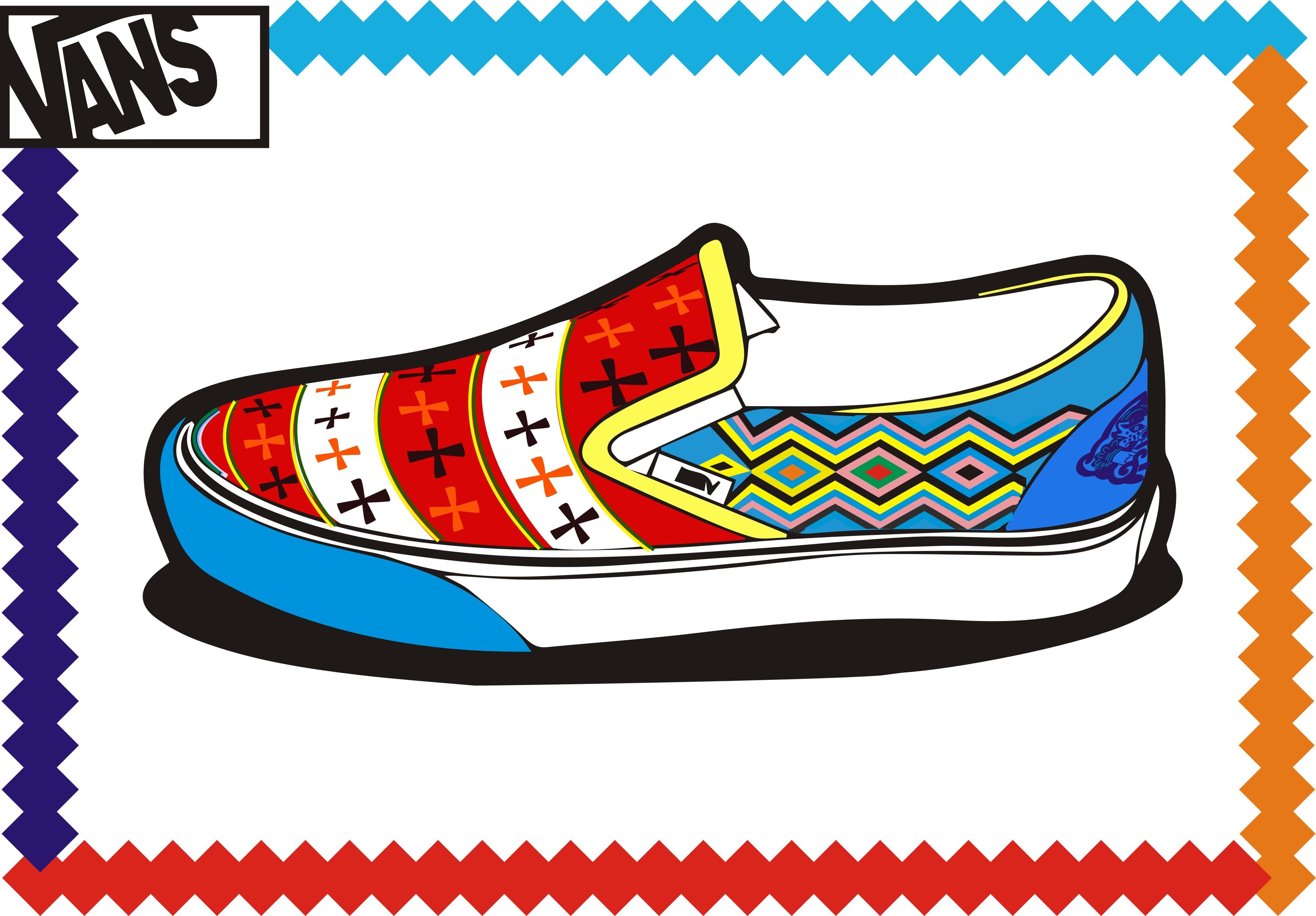 以藏族特色图案为题材设计的一款nans鞋