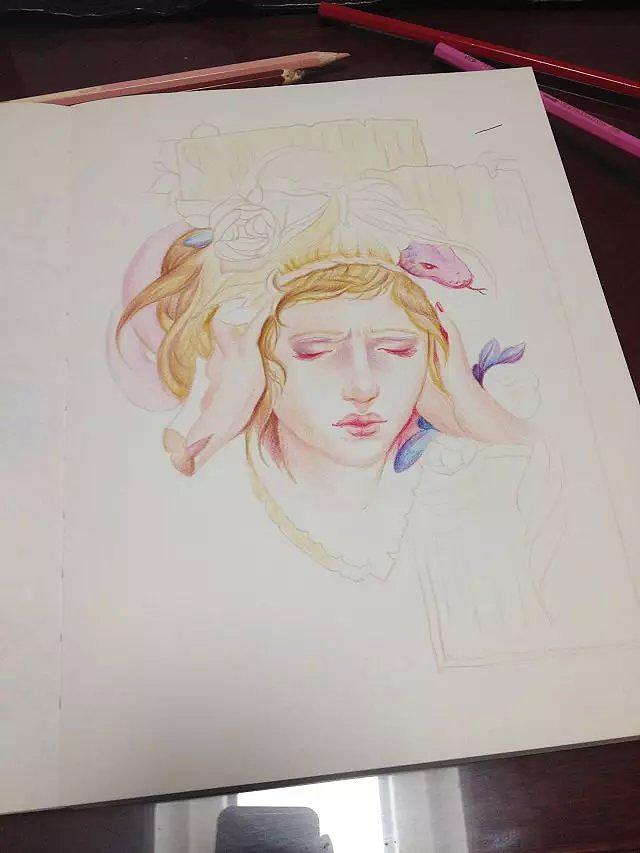 彩铅手绘人物