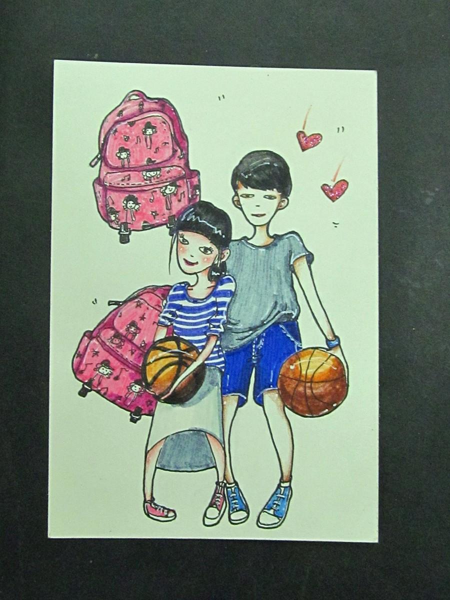 纯手绘明信片|其他绘画|插画|22zhao