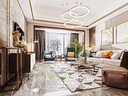 现代奢华客餐厅空间表现