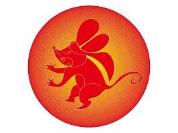 十二生肖之老鼠卡通角色设计