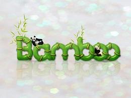 bamboo字体设计