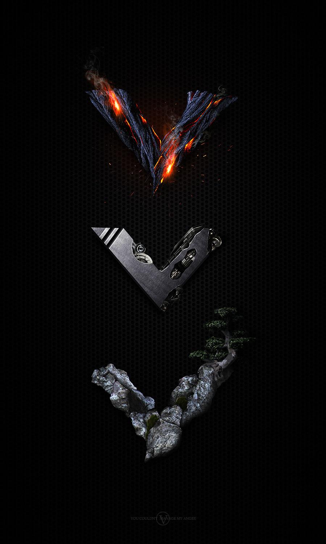 英语金属中文字体火焰v金属层板字母教程石的特效ad绘制六黑金图片