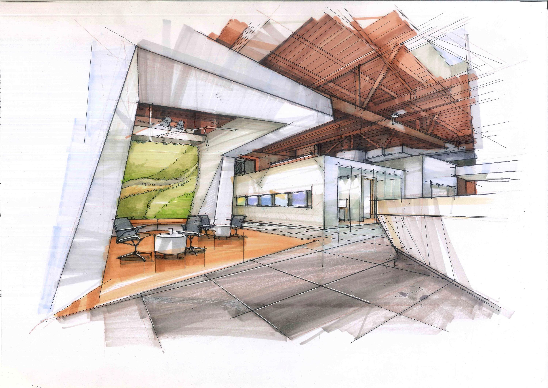 室内手绘 空间 室内设计 拓儿 - 原创作品 - 站酷