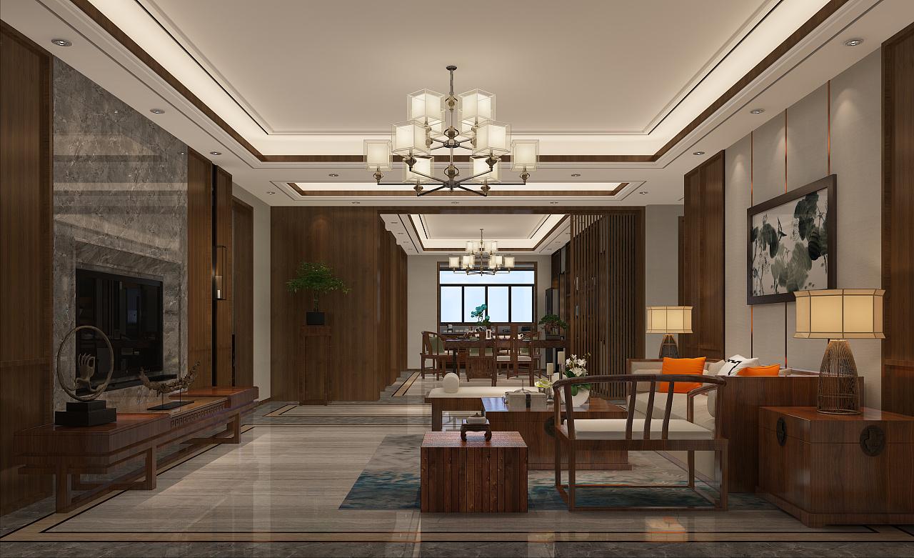 新中式室内设计 空间 室内设计 宏晟装饰 - 原创作品