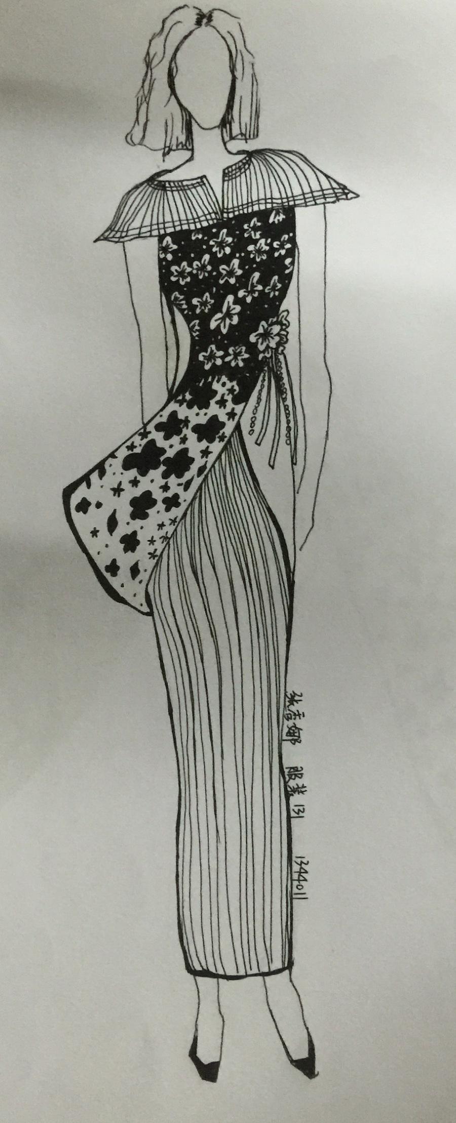 手绘女装设计图