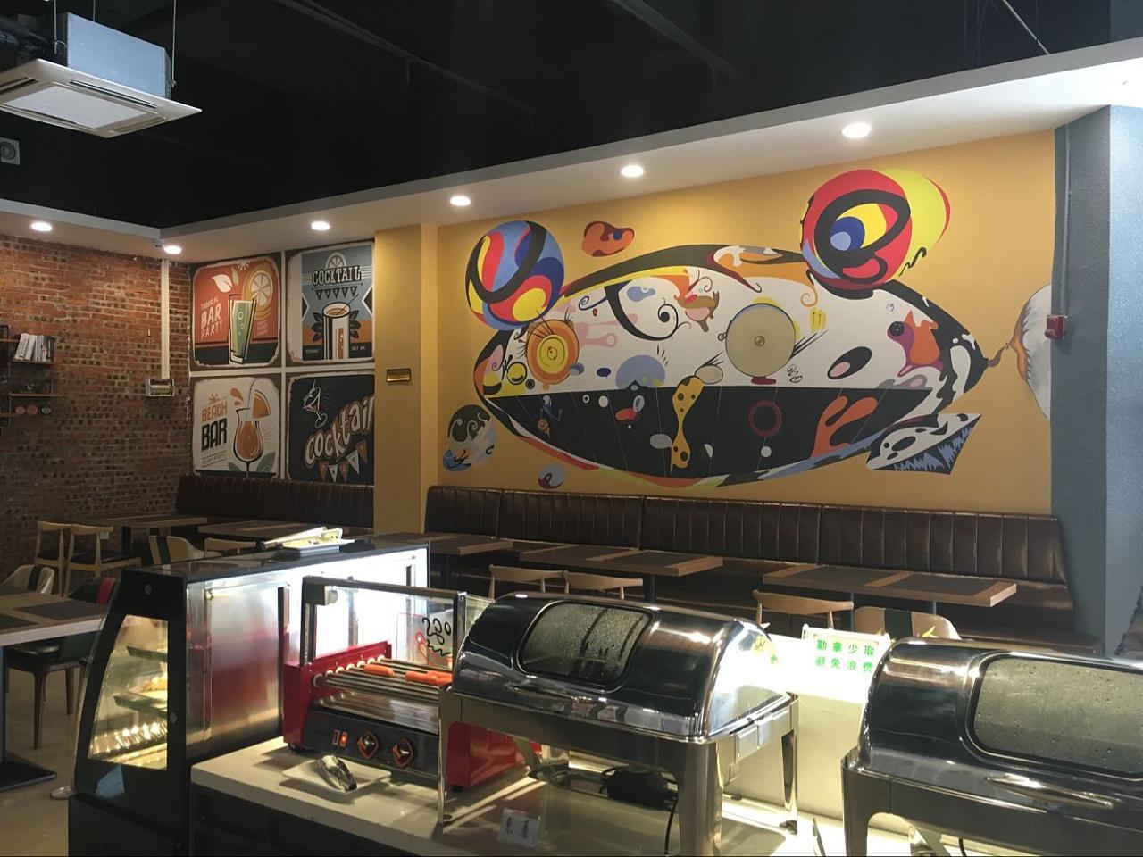 西餐店手绘墙
