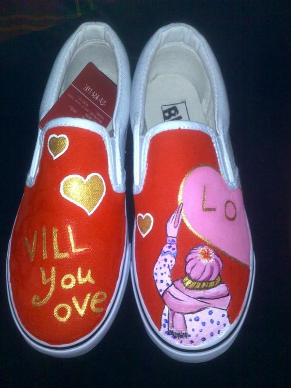 情侣手绘鞋