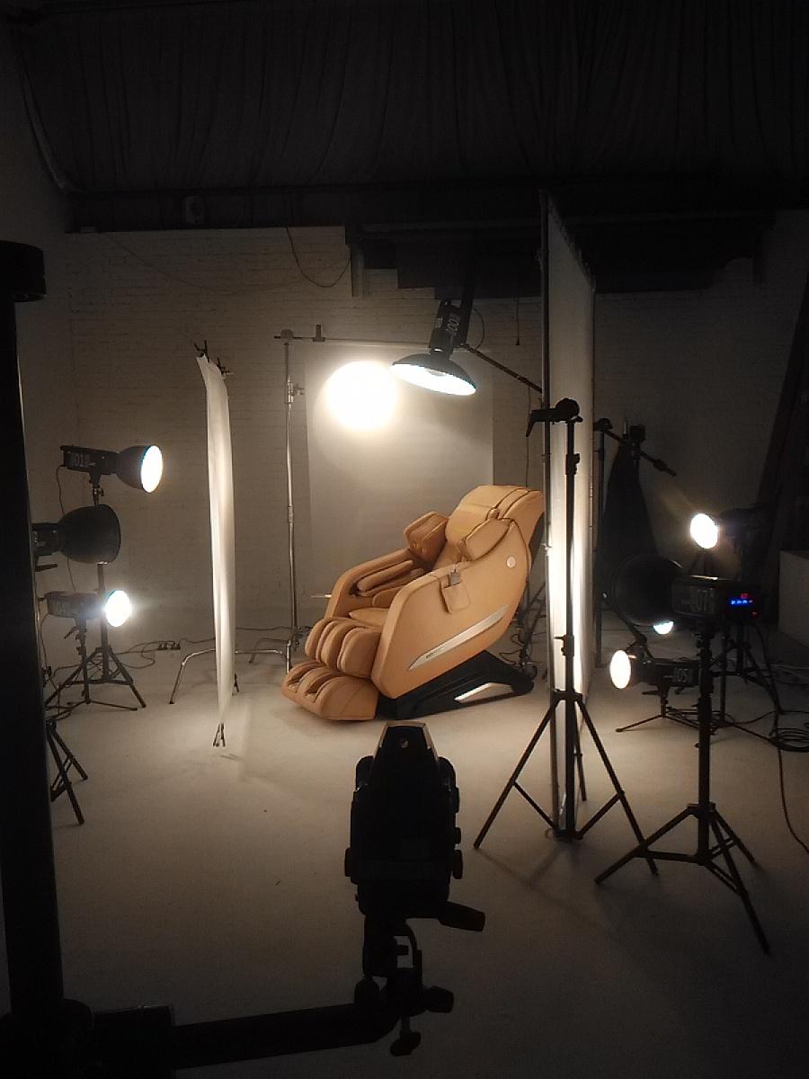 产品摄影-按摩椅纯产品拍摄,附原图&现场布光图图片