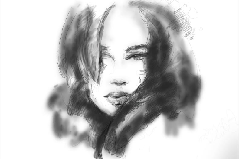 手绘板 素描人物