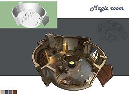 洛克猴室内设计课范《magic  room》