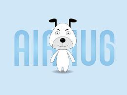 前期两版AirHUG品牌形象设计(吉祥物)及表情包