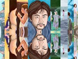 """致敬日本电影大师""""是枝裕和""""绘画系列"""