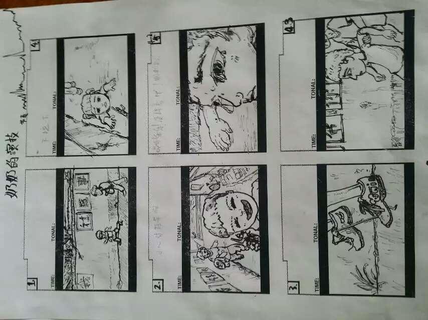 找到大学时画得的一张公益广告的分镜头~ 脚本/分镜图片