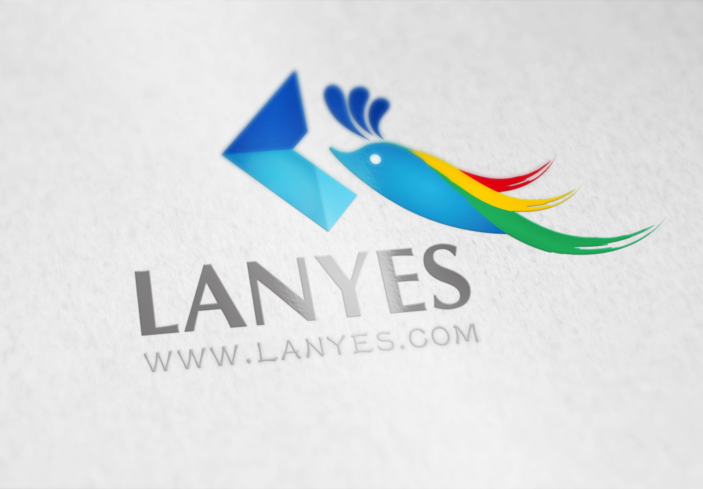 蓝叶logo提案图片