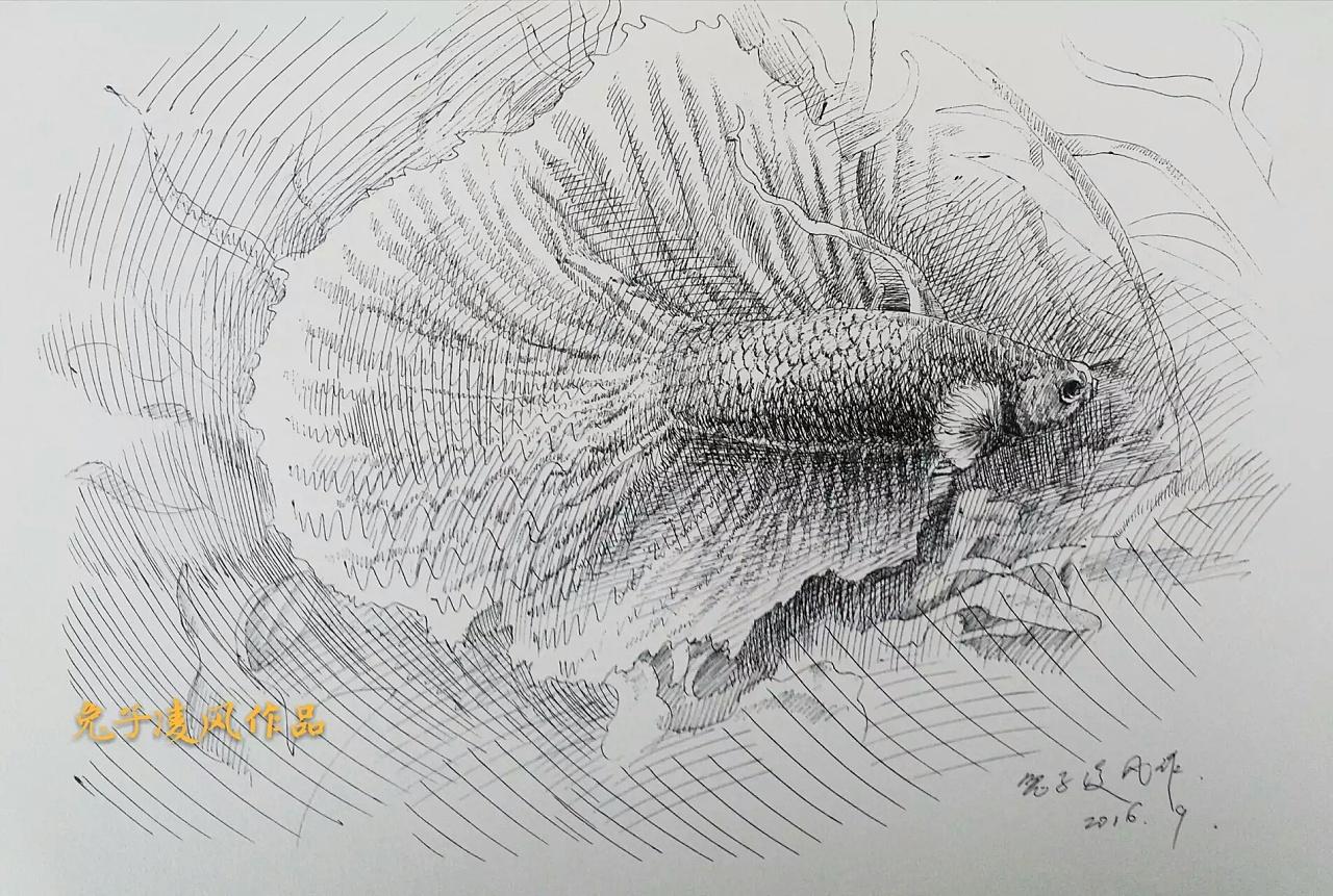 中性笔画练习