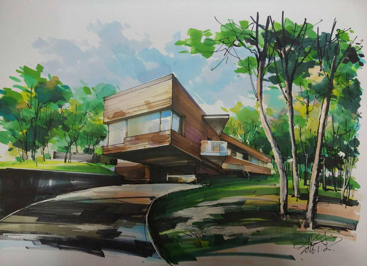 手绘建筑视频