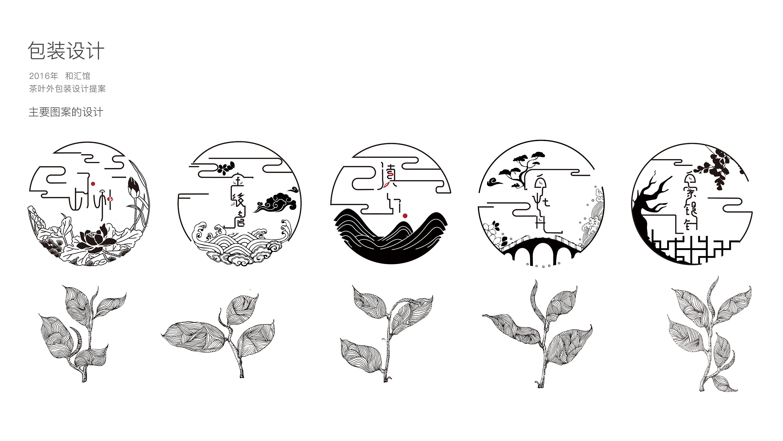 中国风茶叶logo圆标及字体包装设计图片