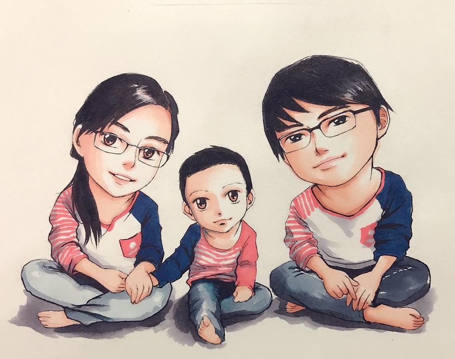 马克笔手绘肖像继续走着!|涂鸦/潮流|插画|秋山丶