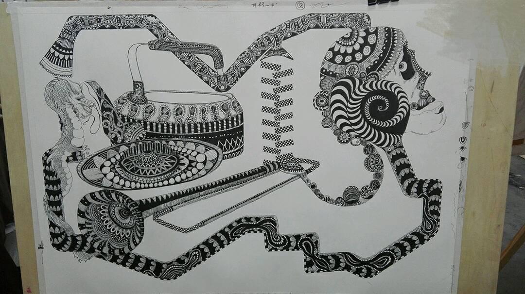 装饰画|插画|插画习作|小蜜蜂0504 - 原创作品 - 站酷图片