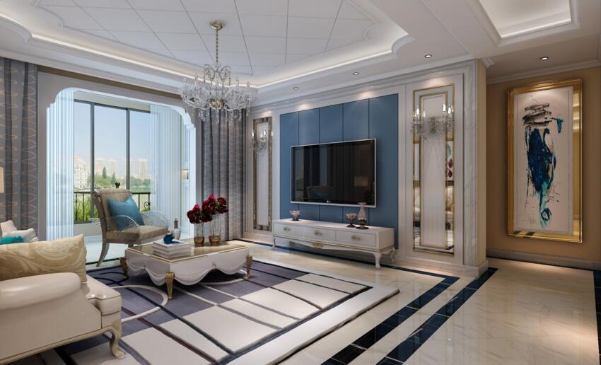 谦祥万和城140平法式风格三室两厅装修案例欣室内设计公司网站国外图片