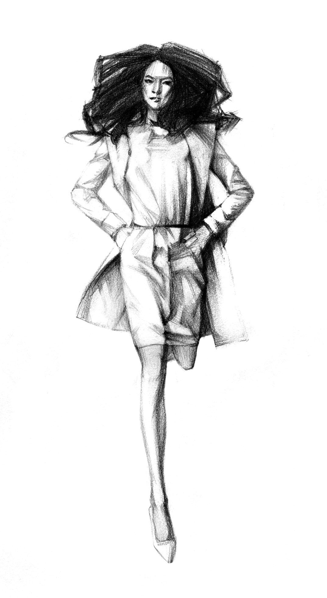 素描手绘图片女