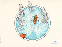 《与水 · 水语》系列手绘