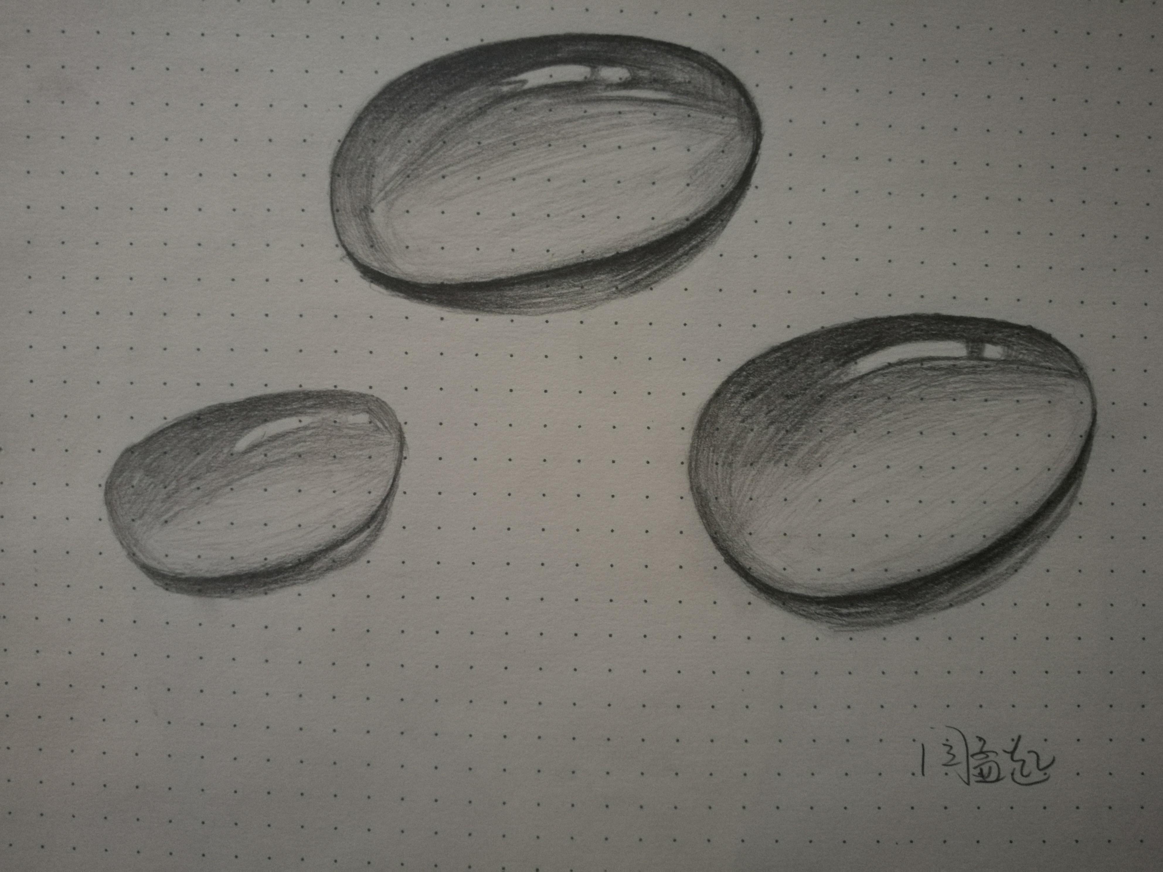 水滴(手绘) 纯艺术 素描 努力的小阿呆 - 原创作品