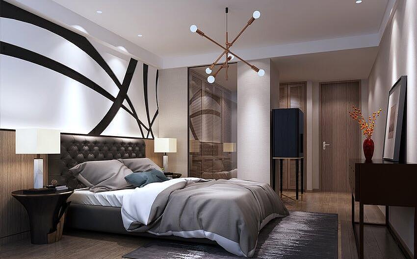 风格庄园装修效果图190平后现代系数四室两厅建筑设计v风格天伦图片