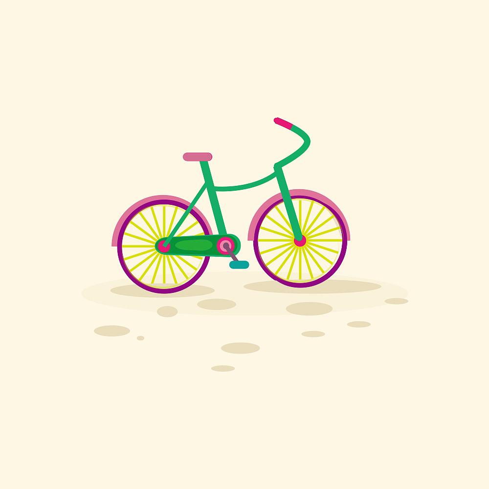 ai自行车图片