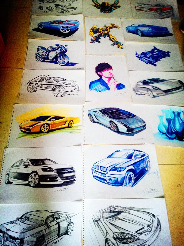 《名车手绘》|交通工具|工业/产品|绘汉zf