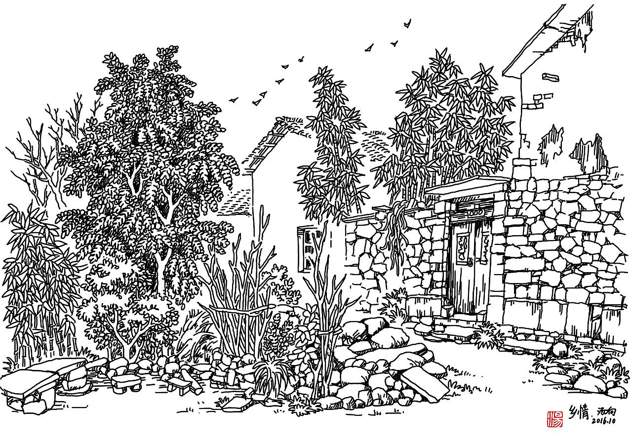 汤向钢笔画,专注于风景速写入门教学
