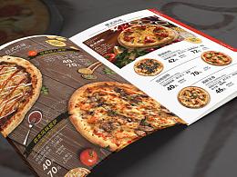 披萨餐厅 菜谱 折页