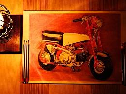 纸上彩铅2--《本田monkey》绘画过程