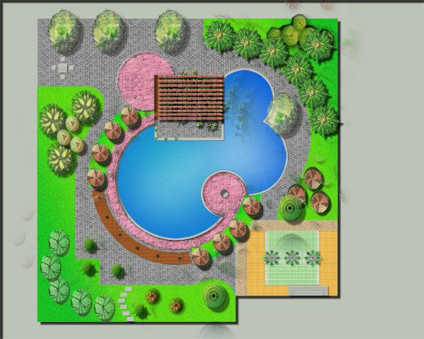 私家庭院设计|其他|平面类|feisin - 原创作品 - 站酷