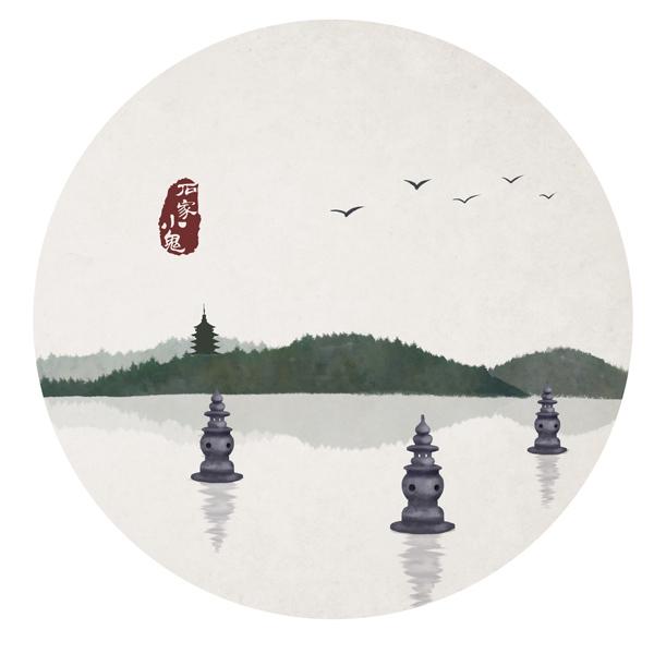竹间系列——杭州西湖十景·三潭印月