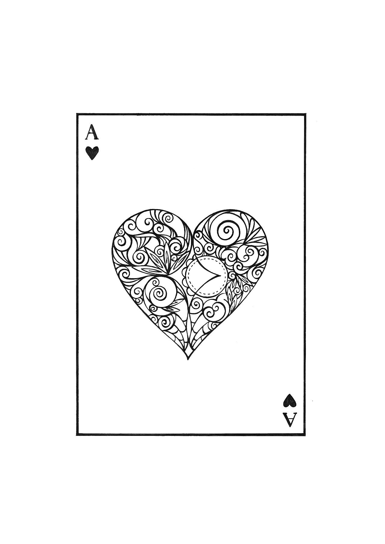 扑克牌手绘设计