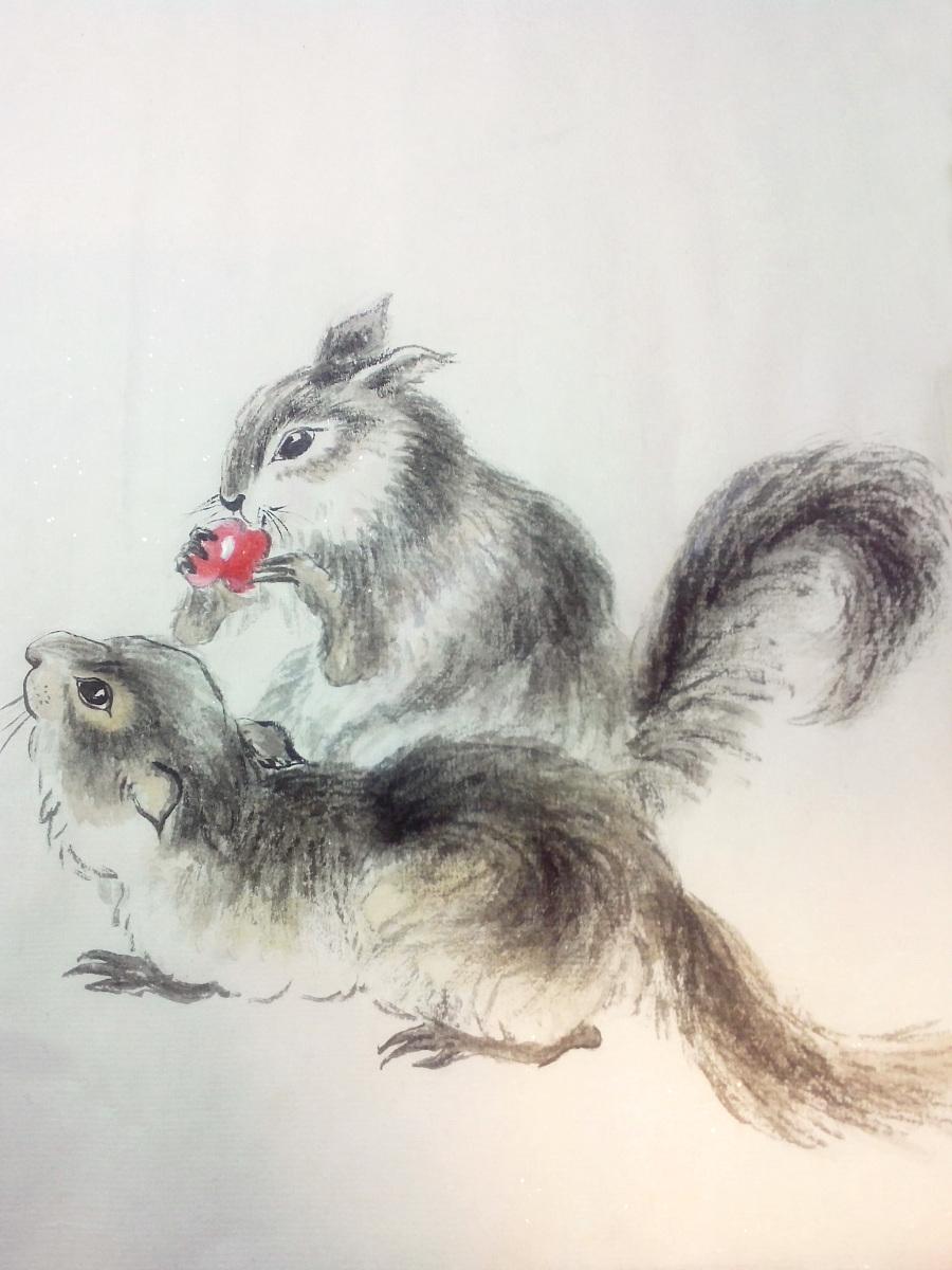 小动物|国画|纯艺术|sophia