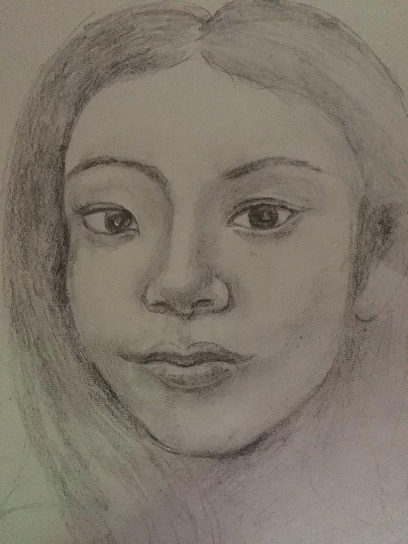 美女68|素描|纯艺术|艺边边