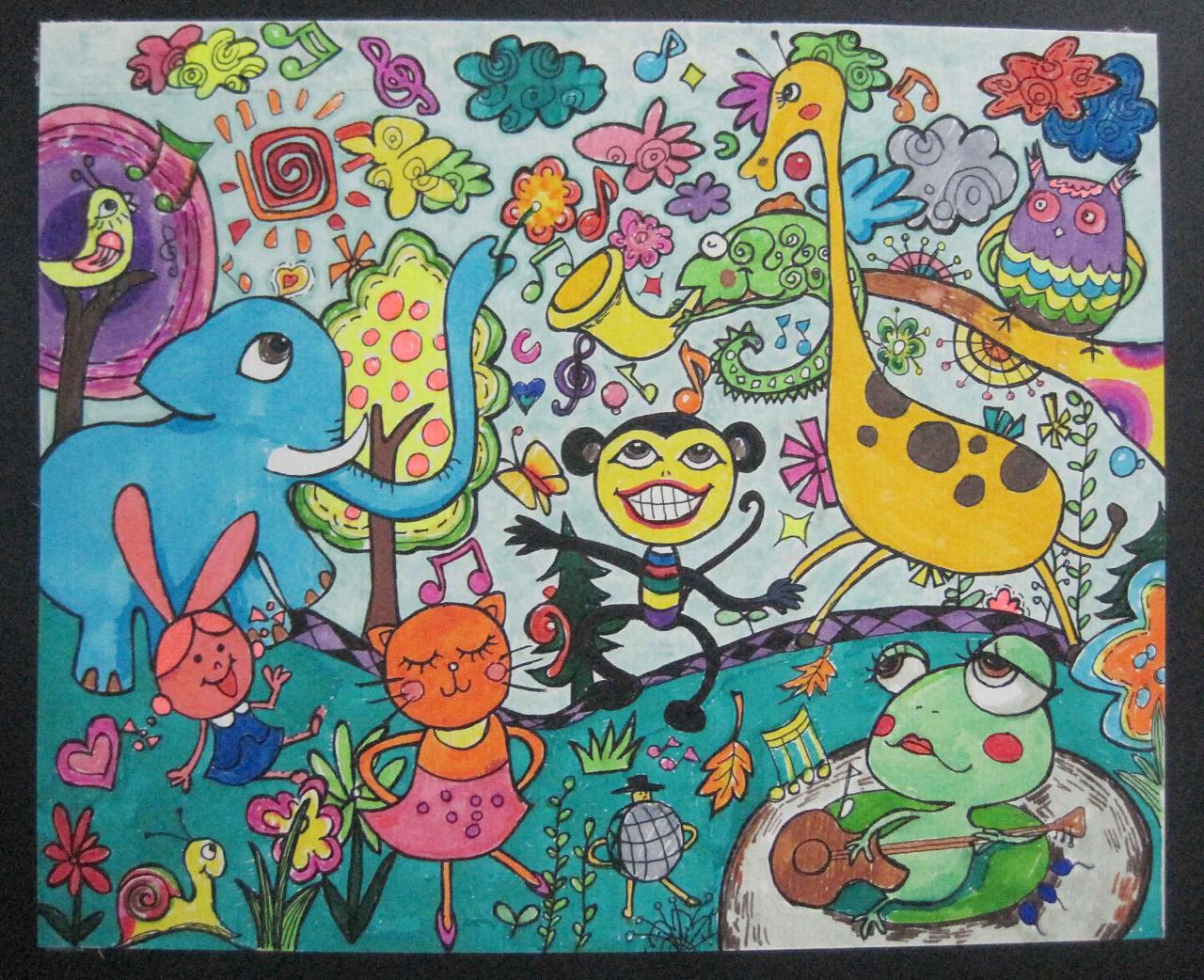 手绘涂鸦稿