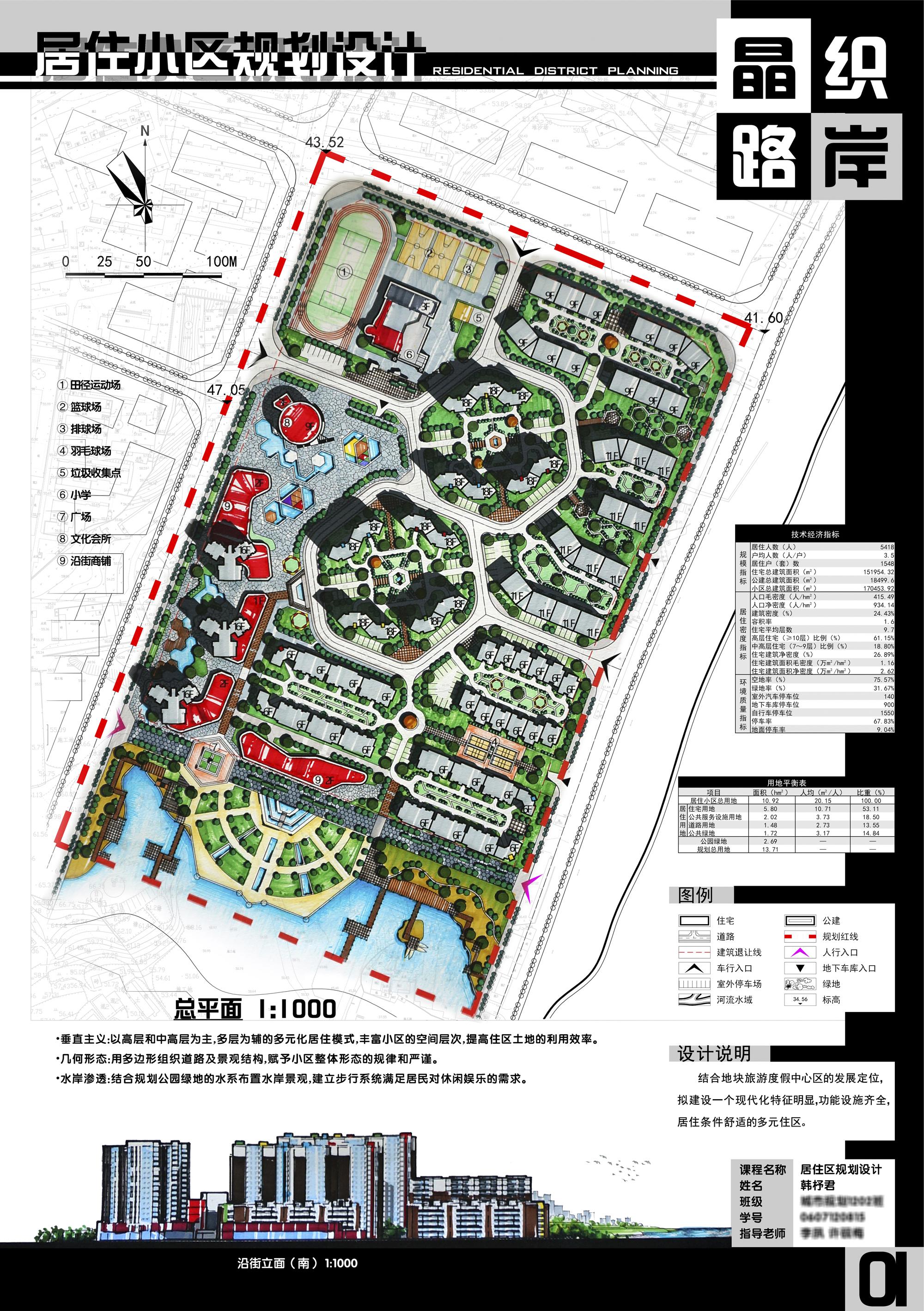 小区规划手绘设计图展示